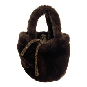 Paola Del Lungo Brown Purse Made in Italy